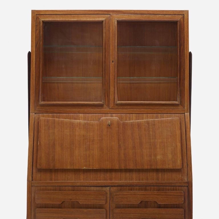 Italian Ico Parisi Attributed Bar Cabinet Secretary For Sale