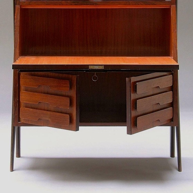 Mid-20th Century Ico Parisi Attributed Bar Cabinet Secretary For Sale