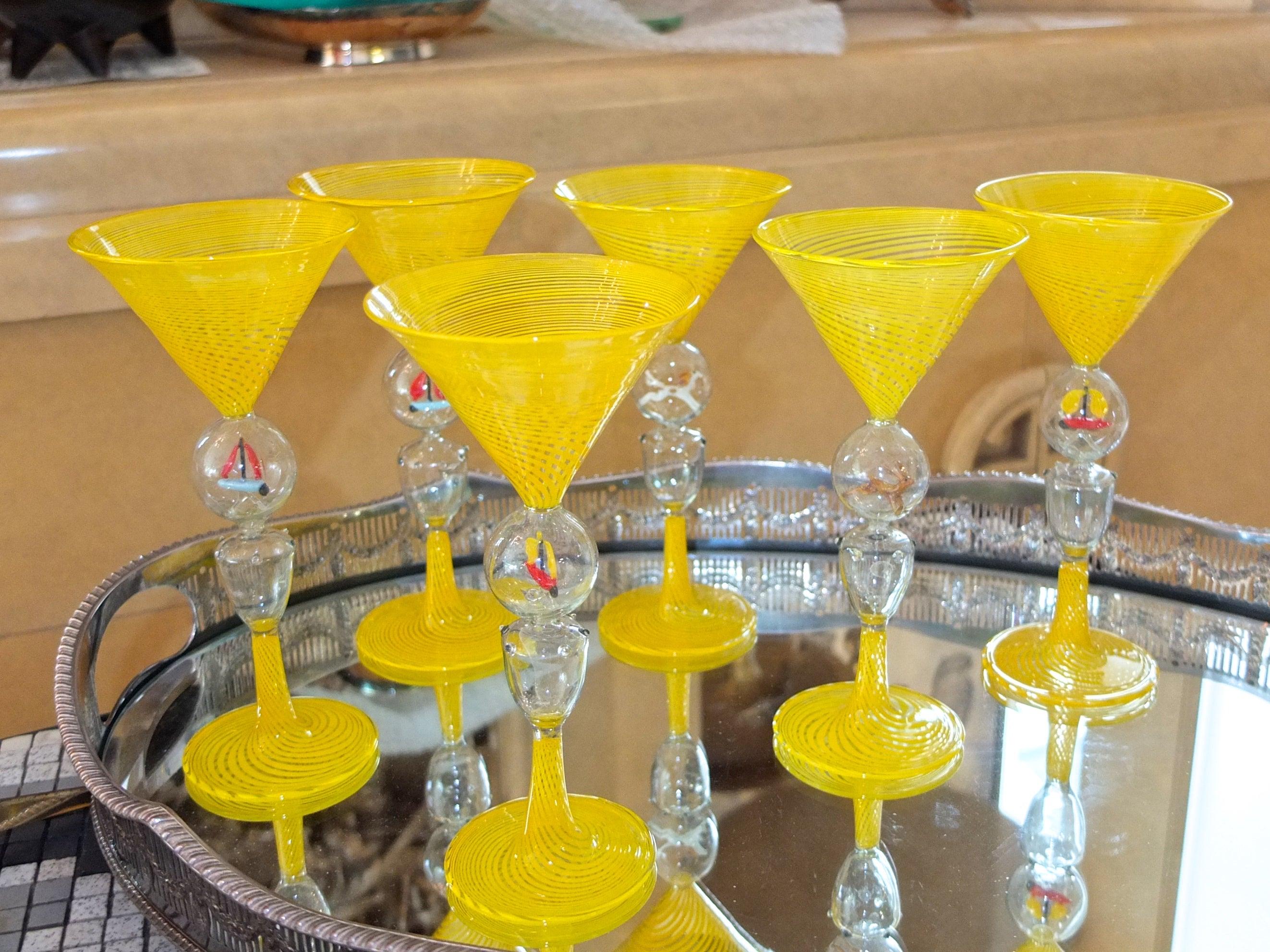 Bimini Werkstatte Martini Glasses, Vienna, 1930s For Sale at 1stdibs