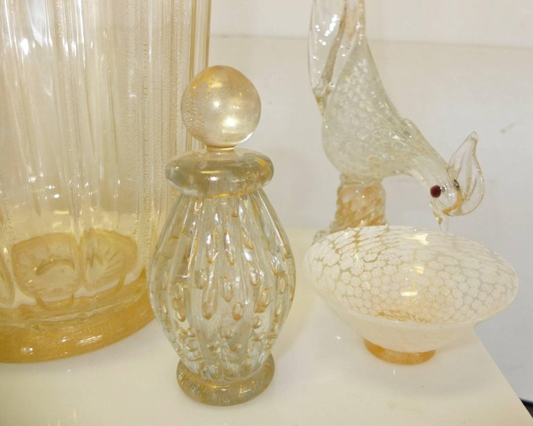 Signed Murano Glass Perfume Boudoir Assortment For Sale 2