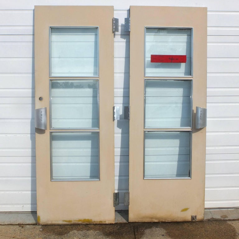 Mid-Century Modern Pair of Doors from S.S. United States Ocean Liner, 1952 For Sale
