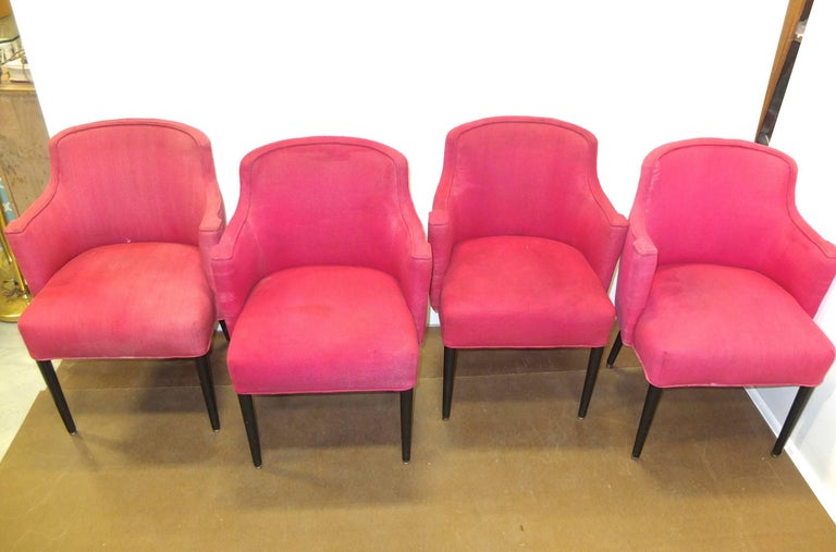 Mid Century Modern Set of Four Chairs from the First Class Dining Room  S