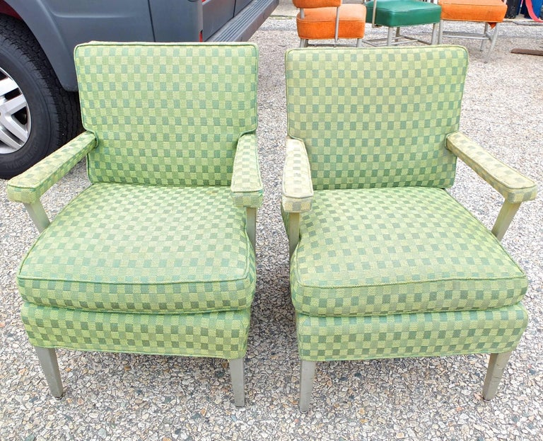 Mid Century Modern Set of Four SS United States First Class Cabin  Upholstered Arm Chairs