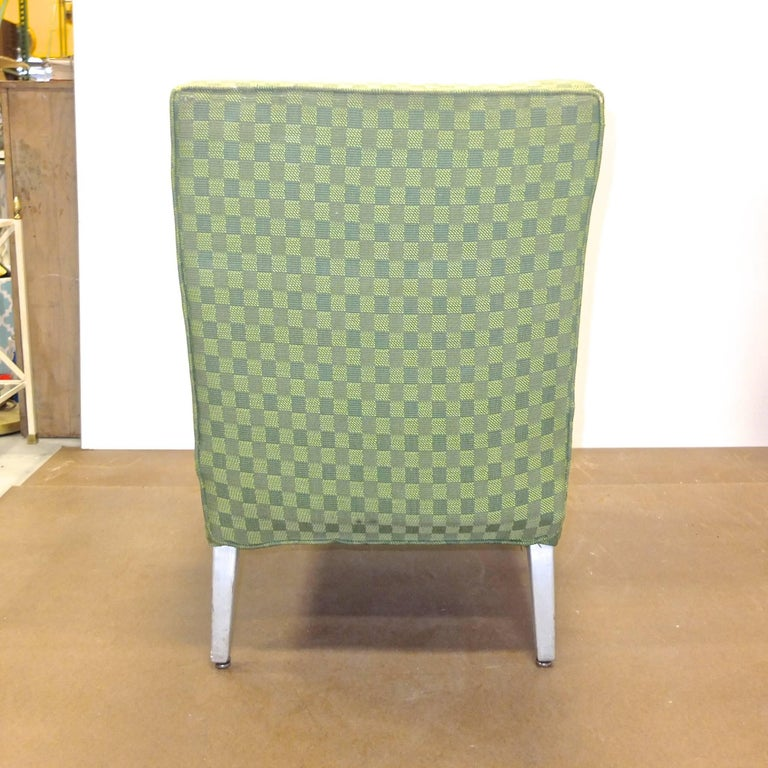 Set of Four SS United States First Class Cabin Upholstered Arm Chairs 6