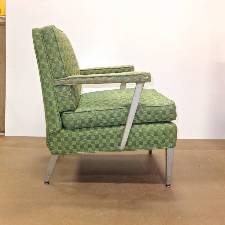 Set of Four SS United States First Class Cabin Upholstered Arm Chairs 7