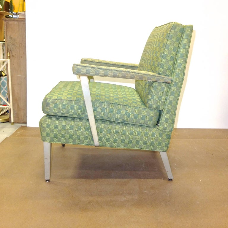 Set of Four SS United States First Class Cabin Upholstered Arm Chairs 8