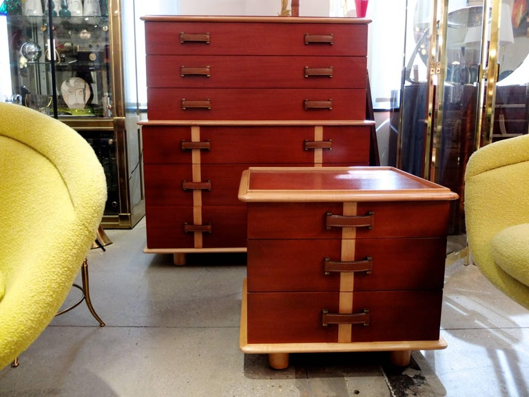 "Paul Frankl ""Station Wagon"" Three-Drawer Chest for Johnson Furniture 6"