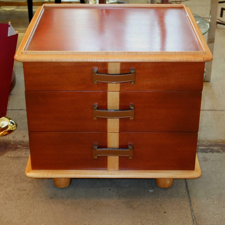 "Paul Frankl ""Station Wagon"" Three-Drawer Chest for Johnson Furniture 8"