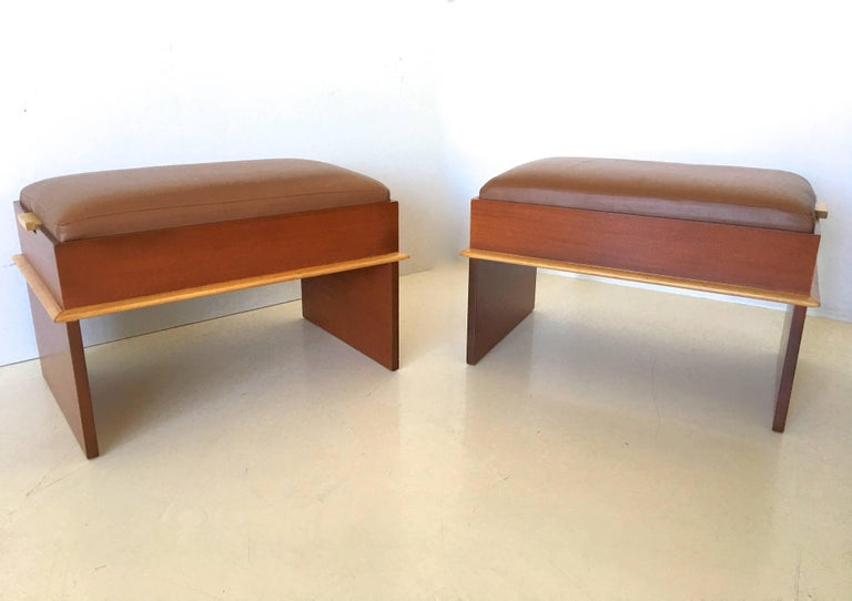 Pair of Paul Frankl Storage Benches from the Station Wagon Group 2