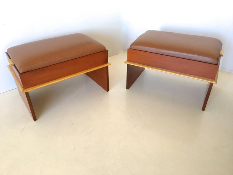 Pair of Paul Frankl Storage Benches from the Station Wagon Group 3