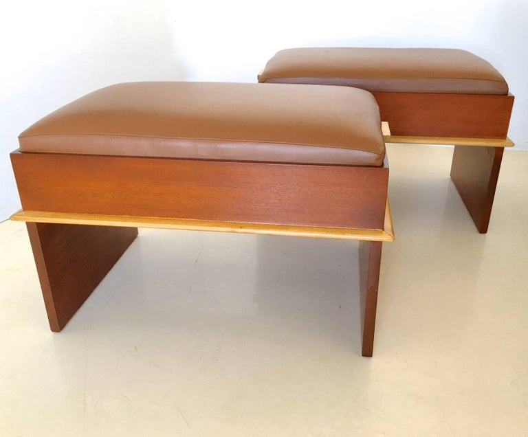 Pair of Paul Frankl Storage Benches from the Station Wagon Group 4