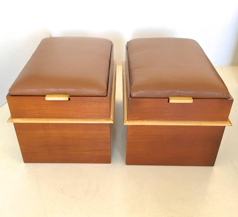 Pair of Paul Frankl Storage Benches from the Station Wagon Group 5