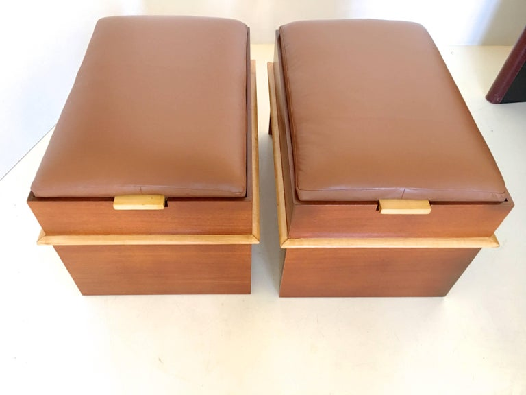 Pair of Paul Frankl Storage Benches from the Station Wagon Group 7