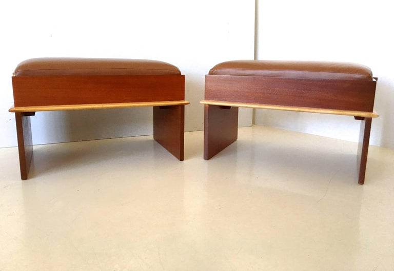Pair of Paul Frankl Storage Benches from the Station Wagon Group 8