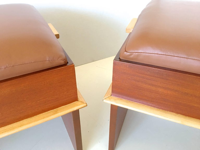 Pair of Paul Frankl Storage Benches from the Station Wagon Group 9