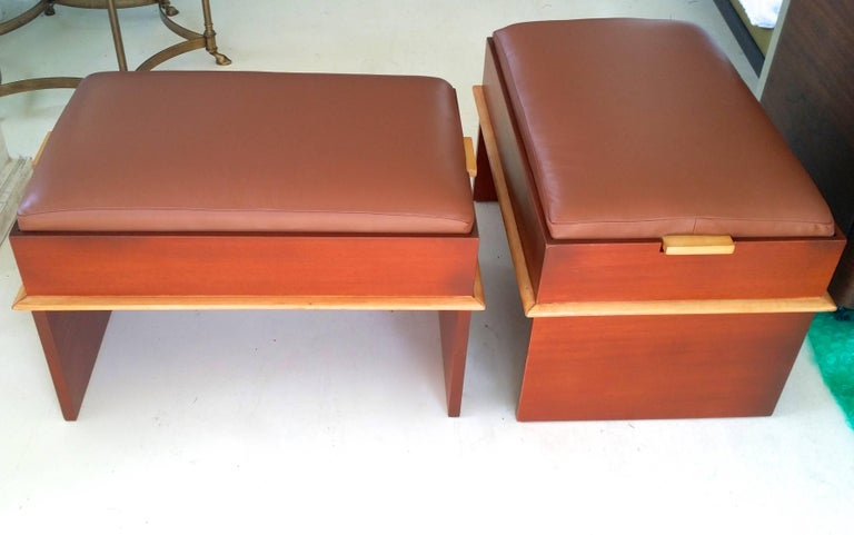 Pair of Paul Frankl Storage Benches from the Station Wagon Group 10