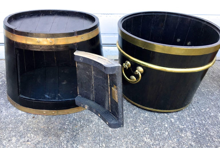 Georgian Grouping of 18th Century Coopered and Brass Banded Service Accoutrement For Sale
