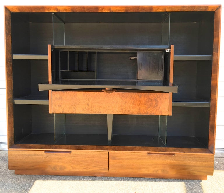 Mid-Century Modern Gilbert Rohde Paldao Secretary Bookcase for Herman Miller For Sale