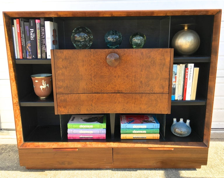 Gilbert Rohde Paldao Secretary Bookcase for Herman Miller In Excellent Condition For Sale In Hingham, MA