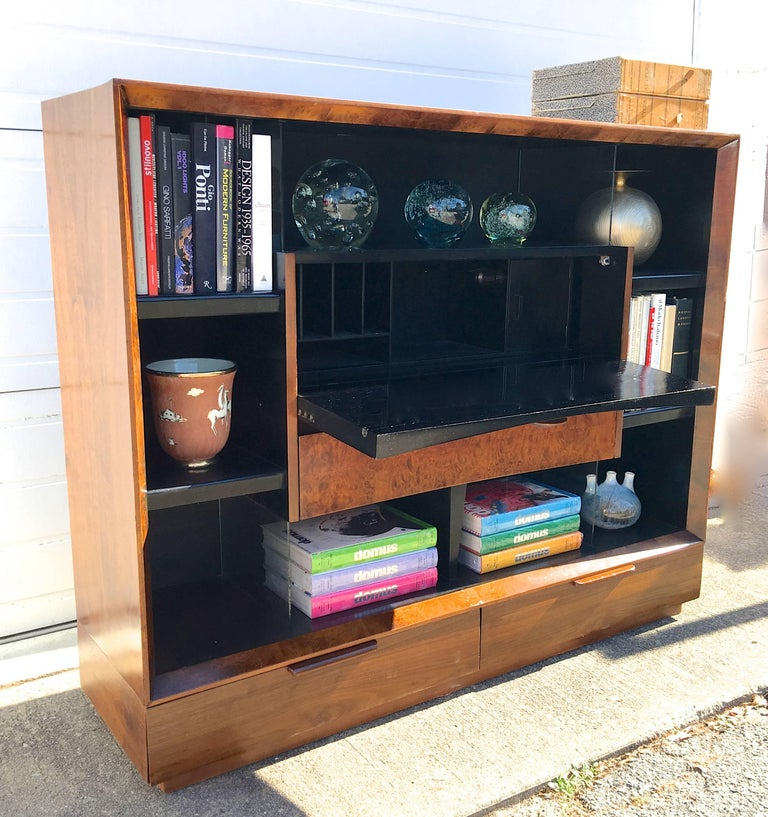 Mid-20th Century Gilbert Rohde Paldao Secretary Bookcase for Herman Miller For Sale