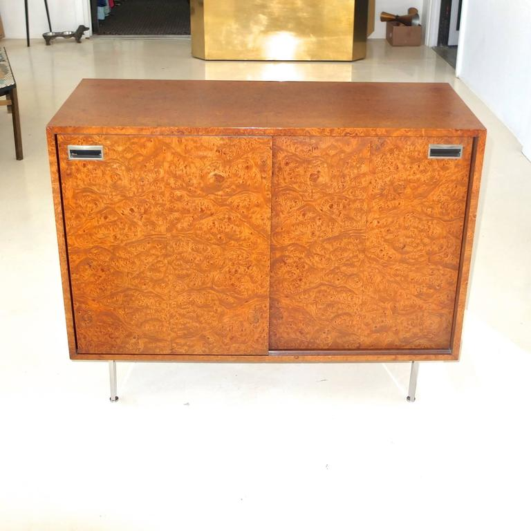 Mid-Century Modern Harvey Probber Olive Burl Cabinet of Drawers For Sale