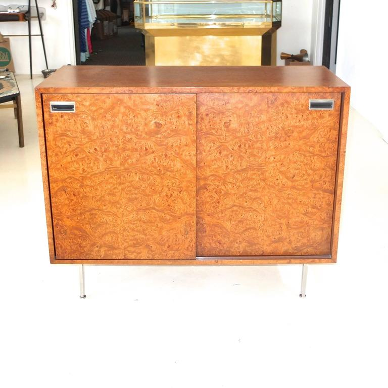American Harvey Probber Olive Burl Cabinet of Drawers For Sale