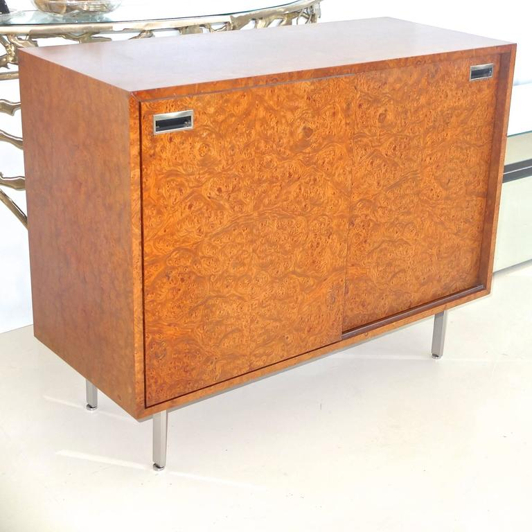 Harvey Probber Olive Burl Cabinet of Drawers In Excellent Condition For Sale In Hingham, MA