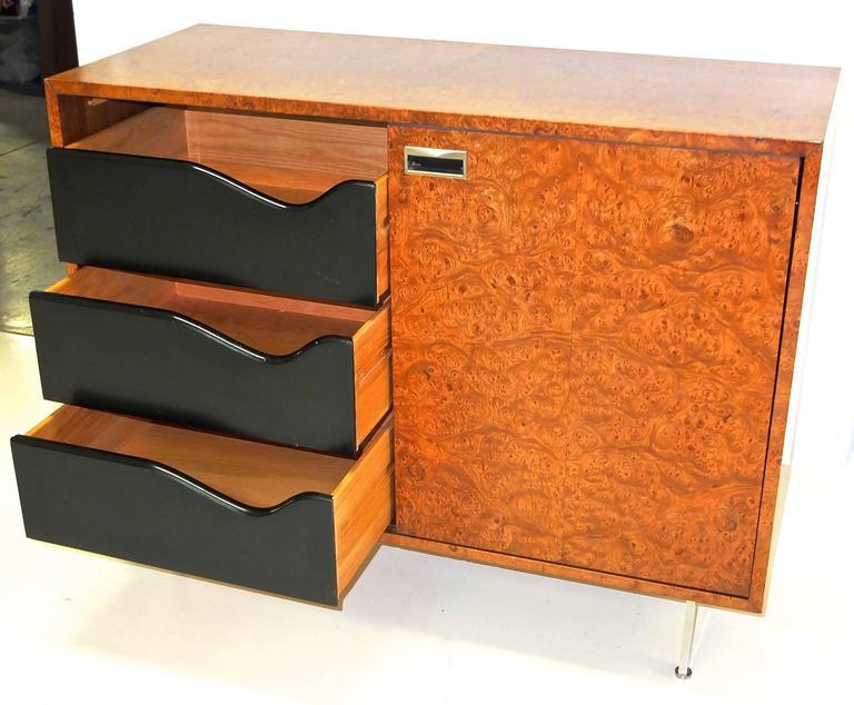 Harvey Probber Olive Burl Cabinet of Drawers 7