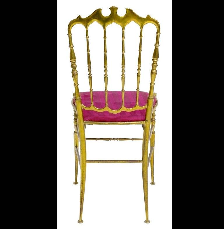 Pair of Solid Brass Chiavari Chairs 3