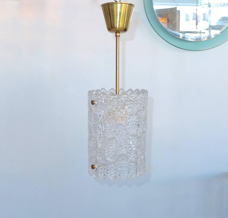 Pair of Crystal Pendant Lights by Carl Fagerlund for Orrefors 4