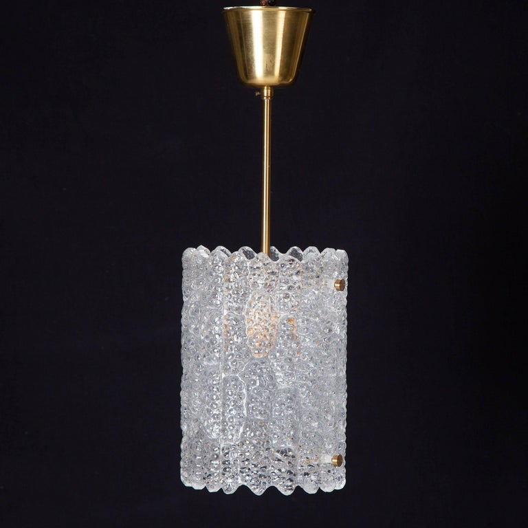 Pair of Crystal Pendant Lights by Carl Fagerlund for Orrefors 9