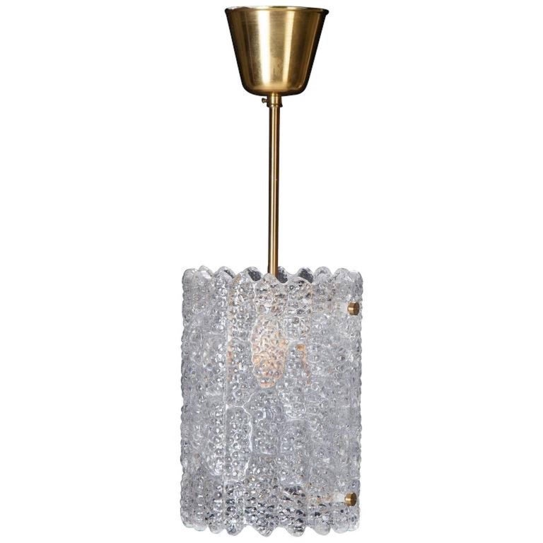 Pair of Crystal Pendant Lights by Carl Fagerlund for Orrefors 10