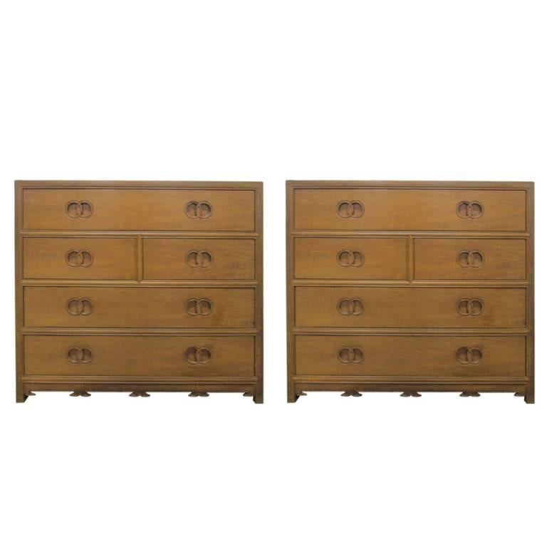 Pair of Baker Bachelor Chests from New World Collection 5