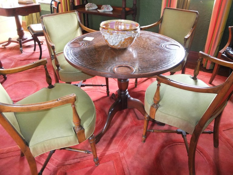Gaming Table and Four Armchairs For Sale 2