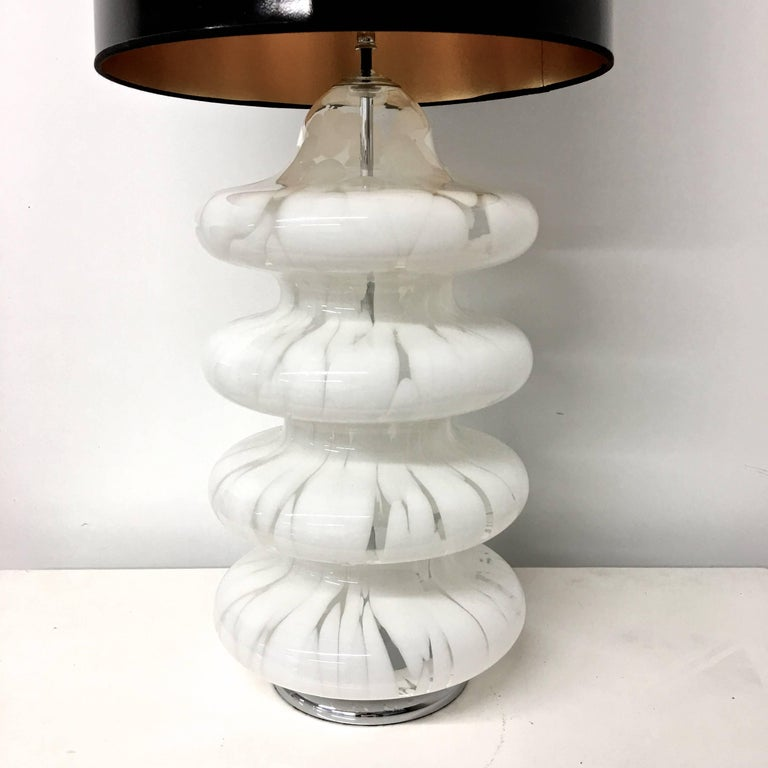 Italian Four-Tier Glass Table Lamp by Carlo Nason for Mazzega For Sale