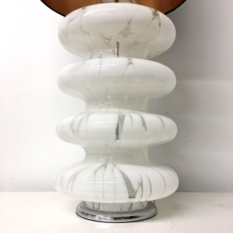 Mid-Century Modern Four-Tier Glass Table Lamp by Carlo Nason for Mazzega For Sale
