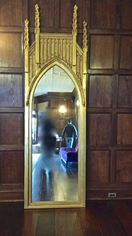Pair of Pugin Gothic Giltwood Mirrors ~9 feet tall For Sale 1