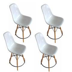 Set of Four Fiberglass Eames Stools