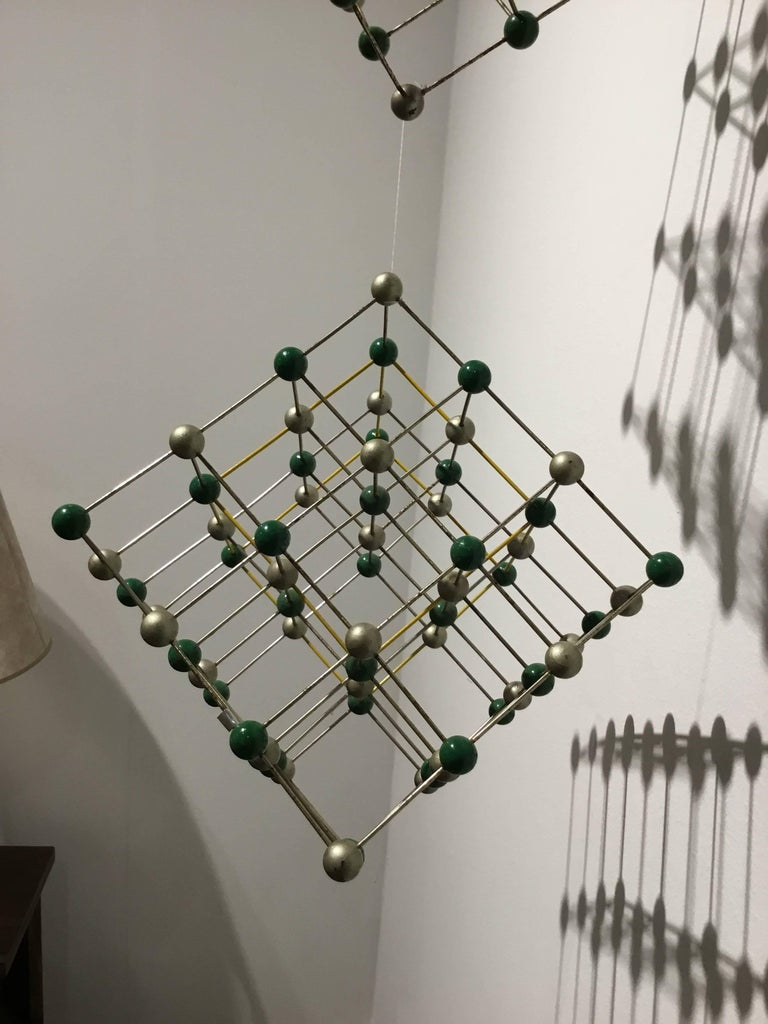 German Wall Hanging Made of Molecule Models For Sale
