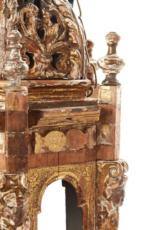 18th Century and Earlier Pair of 18th Century Italian Giltwood Lanterns For Sale
