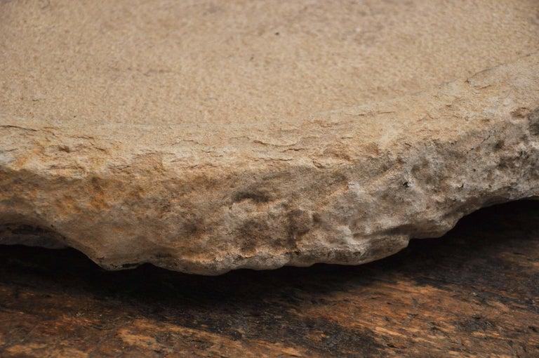 Early 20th Century Hand-Carved Stone Drain Board from the South of France For Sale 3