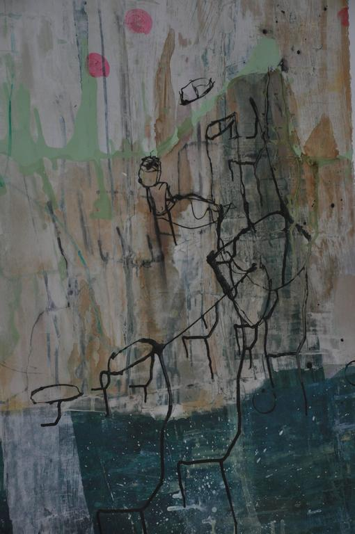 American 20th Century Greg Dickerson work on paper, Untitled Art For Sale