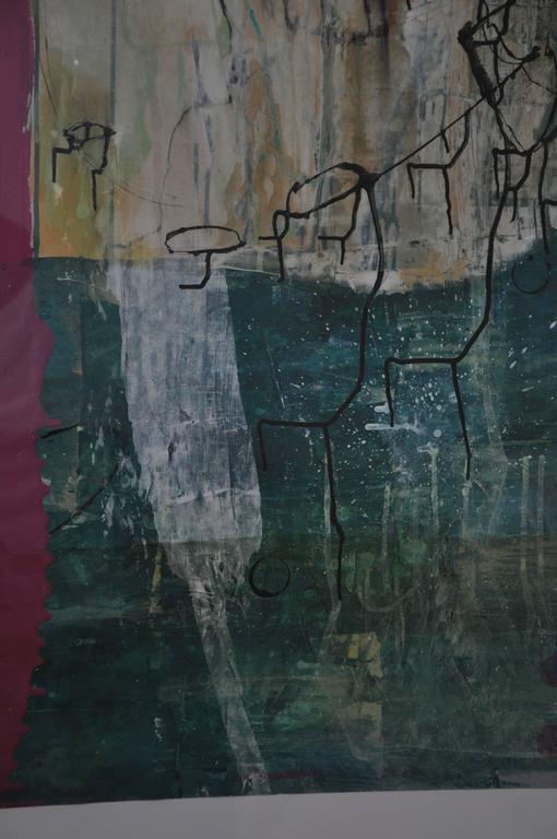 20th Century Greg Dickerson work on paper, Untitled Art In Excellent Condition For Sale In Chicago, IL