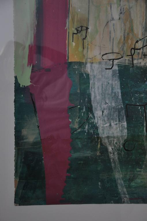 Paint 20th Century Greg Dickerson work on paper, Untitled Art For Sale