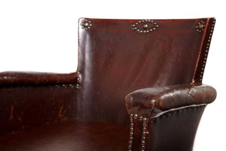20th Century Otto Schulz Original Swedish Leather Armchair For Sale 3