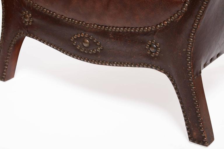20th Century Otto Schulz Original Swedish Leather Armchair For Sale 4