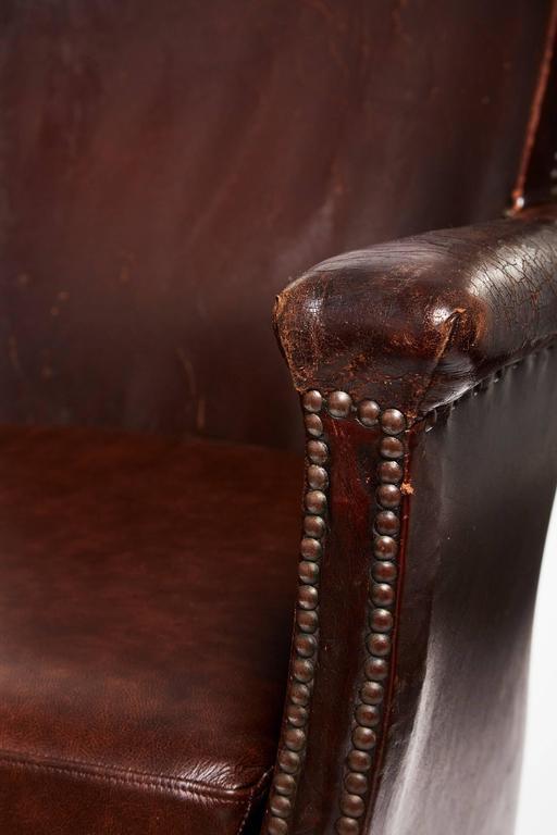 20th Century Otto Schulz Original Swedish Leather Armchair For Sale 5