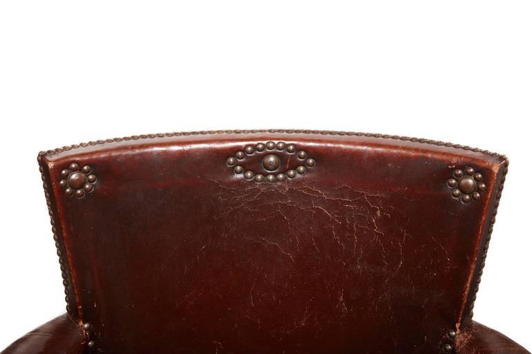 20th Century Otto Schulz Original Swedish Leather Armchair For Sale 6
