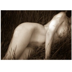 "21st Century Giclee Print Photograph ""Nude in Grass"" by Janet Mesic Mackie"
