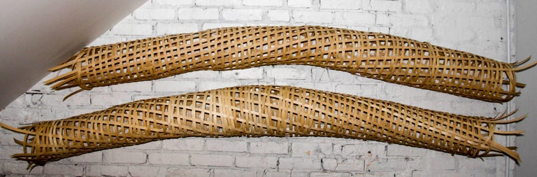 21st Century Woven Oak Sculptures by Analee Soskin In Excellent Condition For Sale In Chicago, IL
